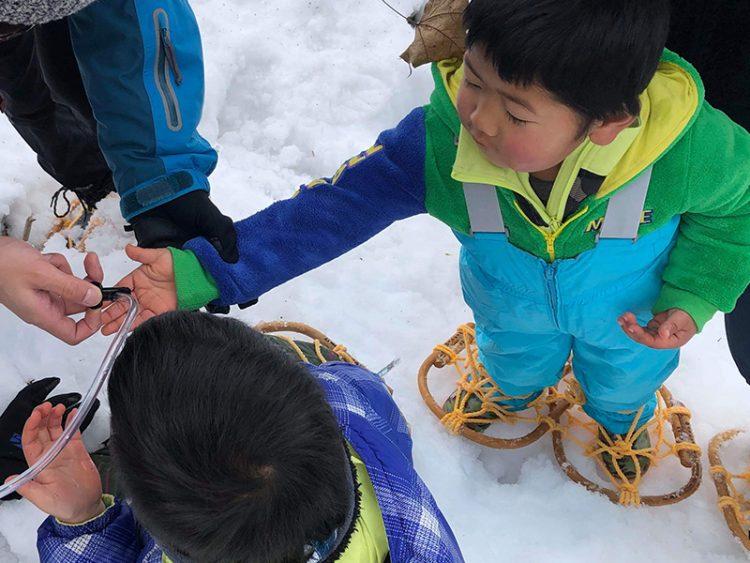 鳴子温泉もりたびの会の環境教育プロジェクトの風景